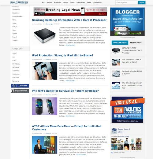 RoadRunner Blogger Template