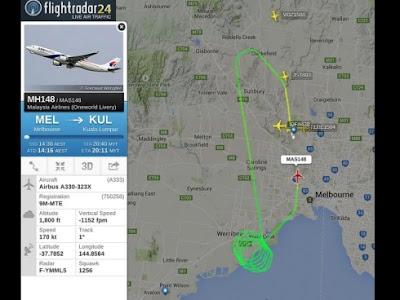 Pesawat MAS MH148 Berpatah Balik Enjin Terbakar