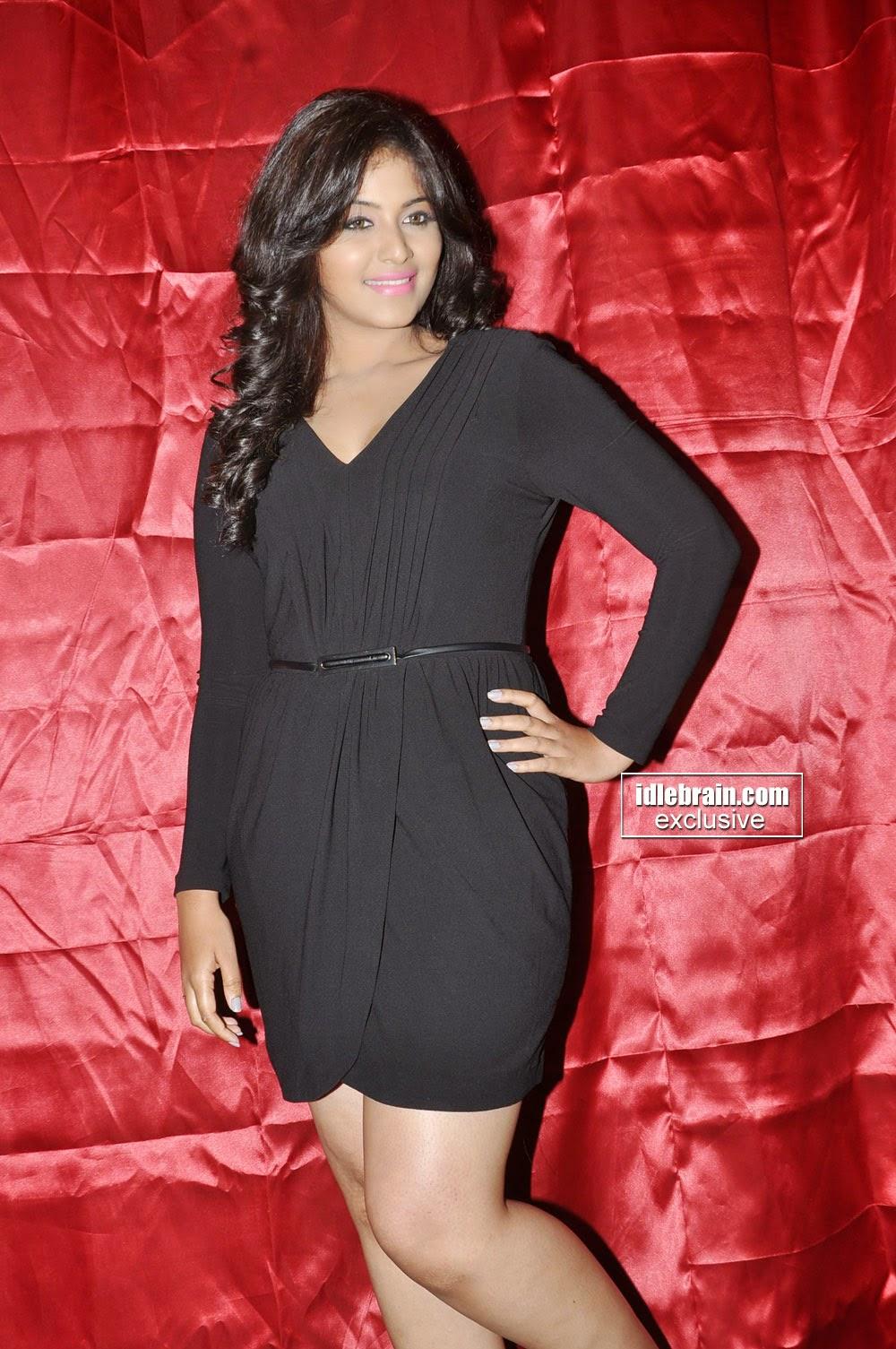 Anjali black mini dress
