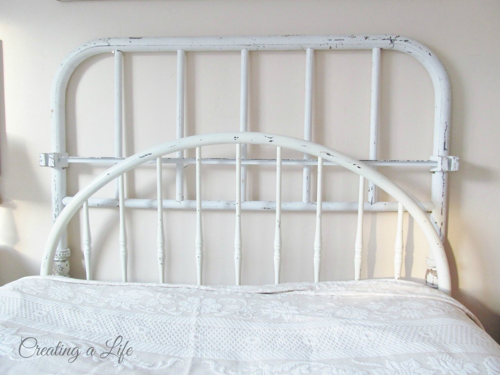 Creating A Life: Vintage Iron Headboard {or two}