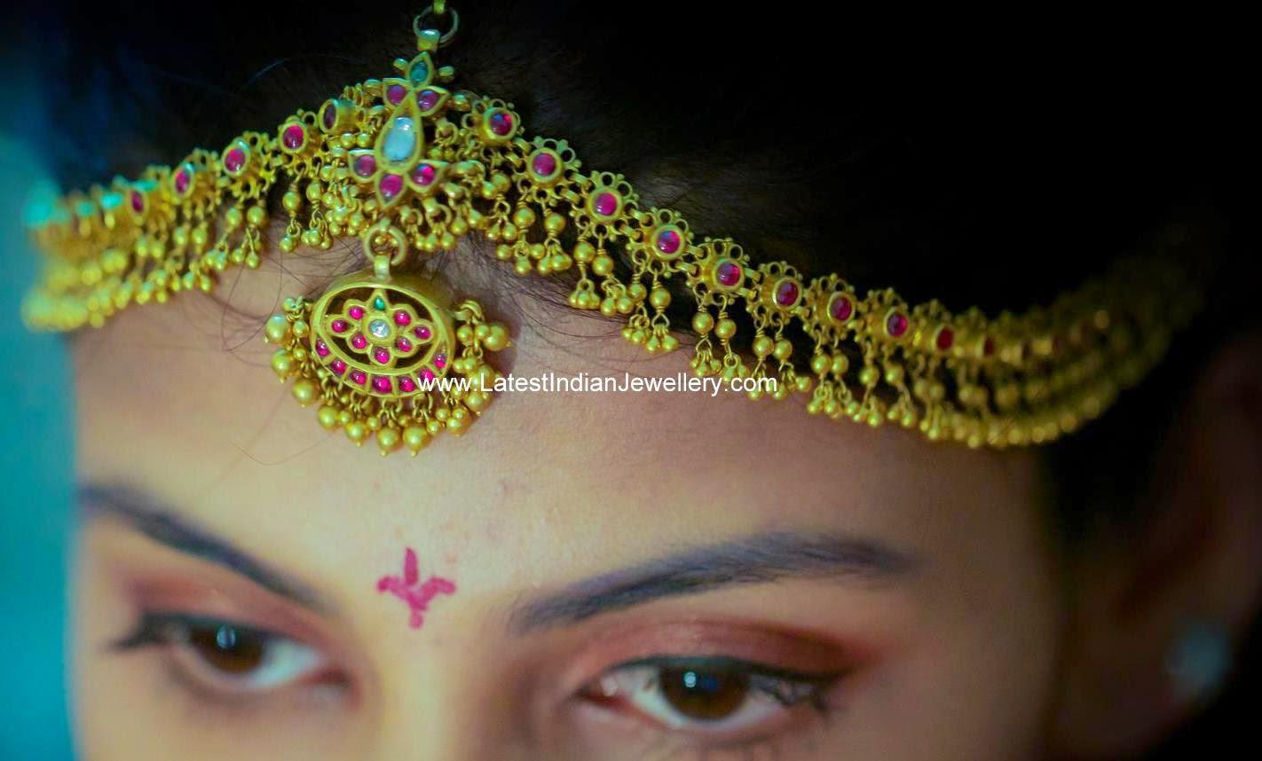 Bridal Gold Matha Patti Design