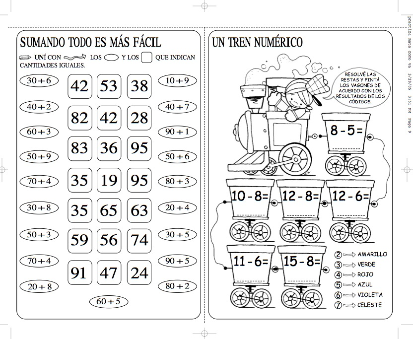 Dorable Imprimibles Ejercicios De Matemáticas Gratis Componente ...