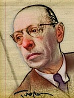Igor Stravinsky by Tom Mallon