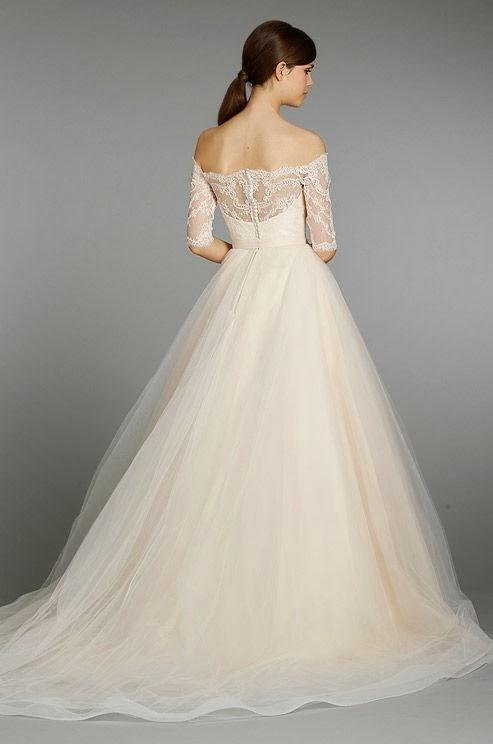 Evening Dresses: Vintage look - sleeved wedding dress