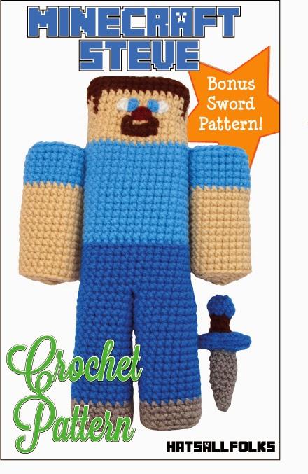 Minecraft Knitting Patterns : Things I Do For My Kids: Minecraft Steve Crochet Pattern