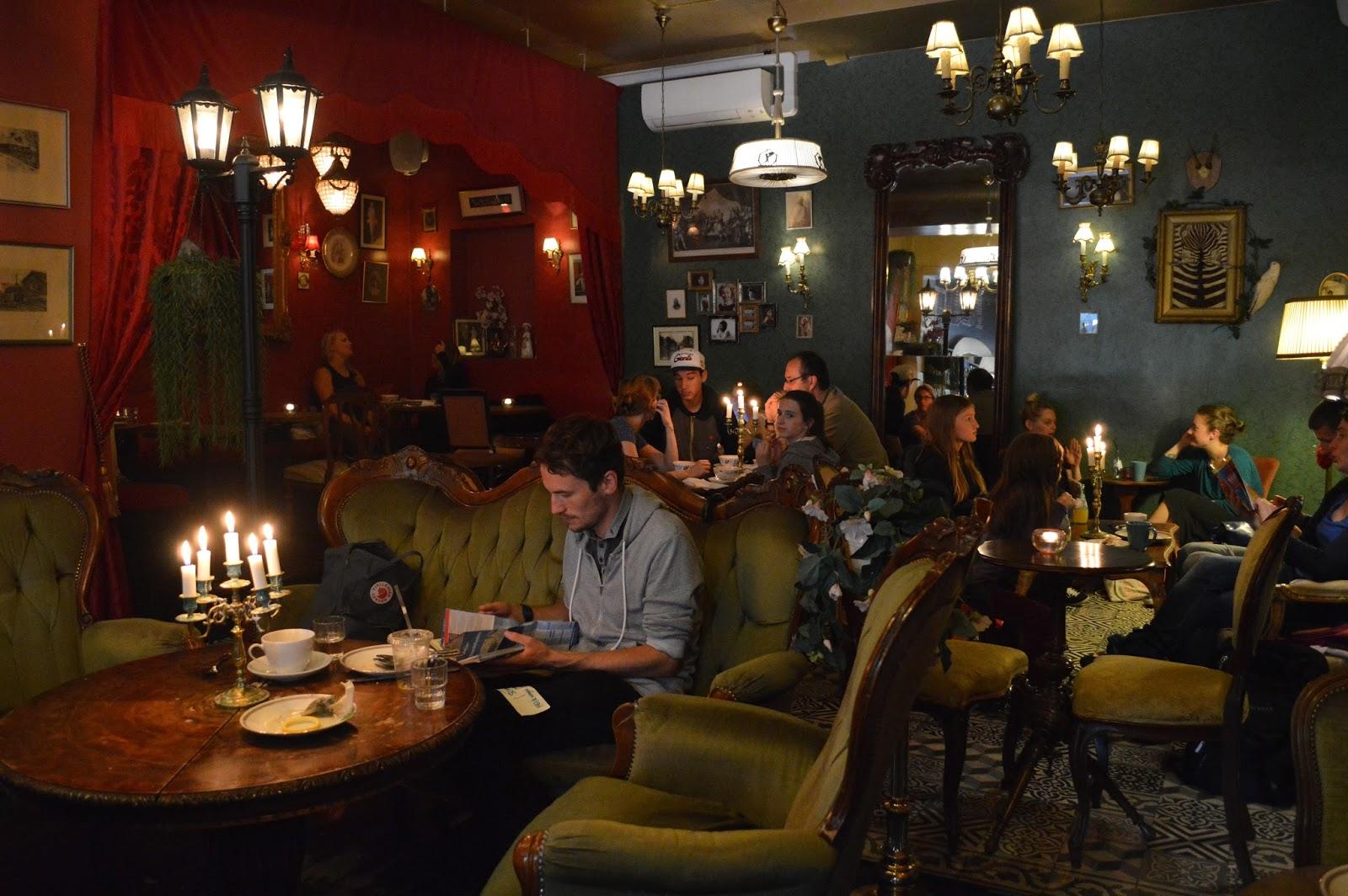 Retro, vintage cafe Gildas Rum in Södermalm, Stockholm
