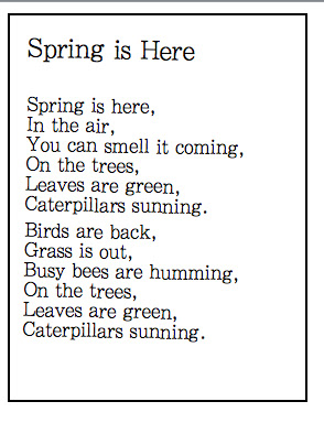 Spring Poems on Spring Bee Coloring Pages 9 2