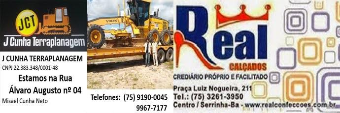 J Cunha Terraplanagem, rua Álvaro Augusto n°04 // Real CalçadosCrediário próprio e facilitado!