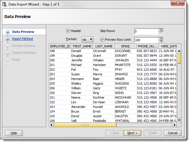 Work and life how to import from excel to oracle with sql - Oracle sql developer copy table ...