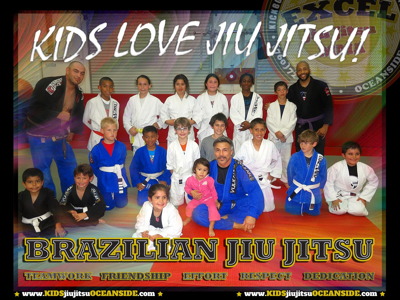 self defense for kids EXCEL Jiu Jitsu Oceanside, Ca