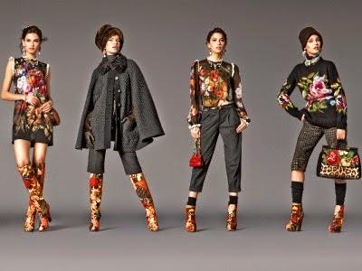 vestidos, botas, blusas florais