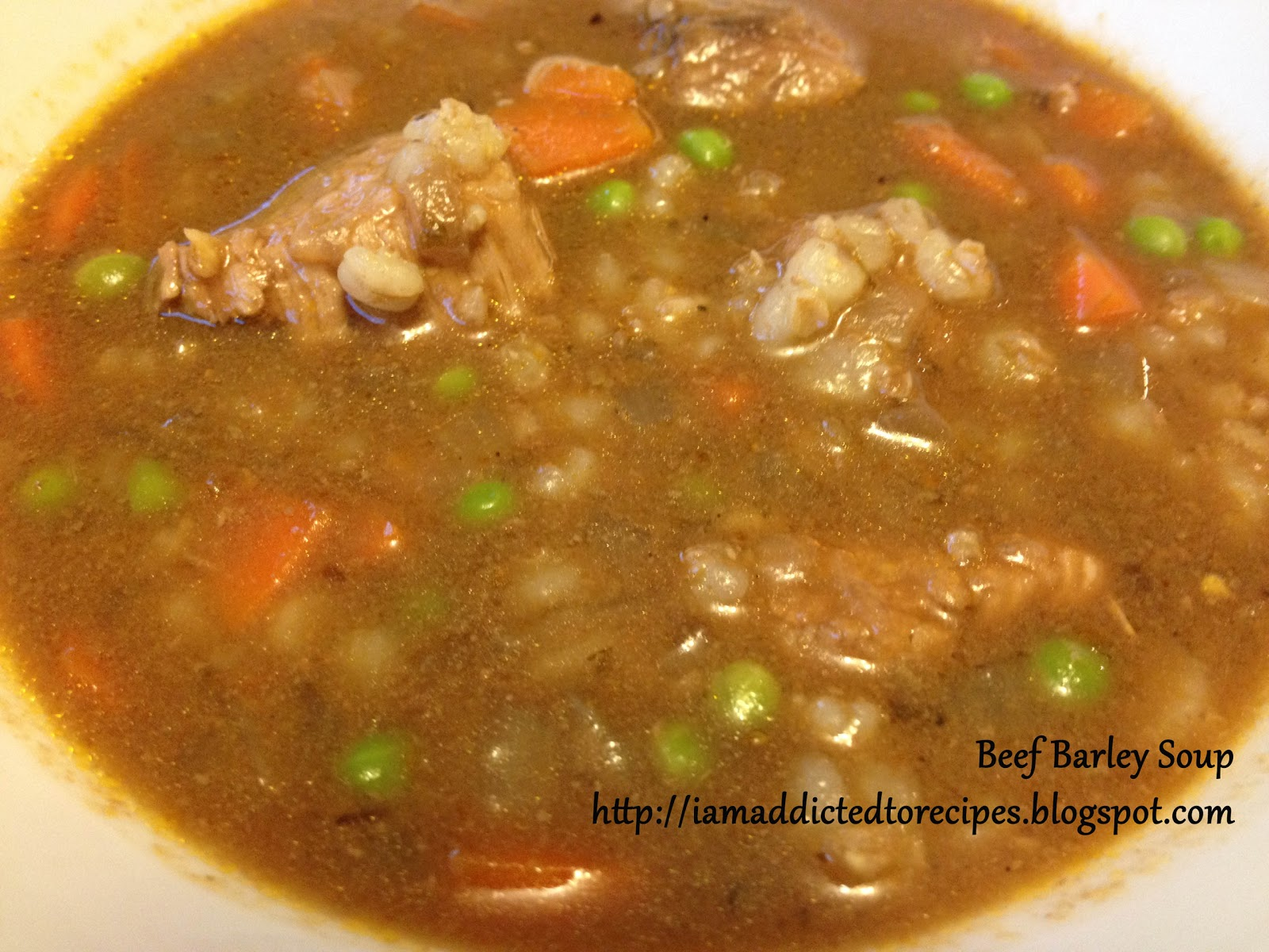Addicted to Recipes: Beef Barley Soup - Slow Cooker Thursday