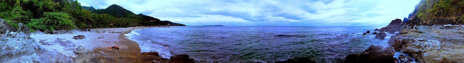 Panorama of Laiya Beach Cove
