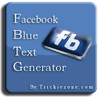Facebook Blue Text Generator By Trickiezone