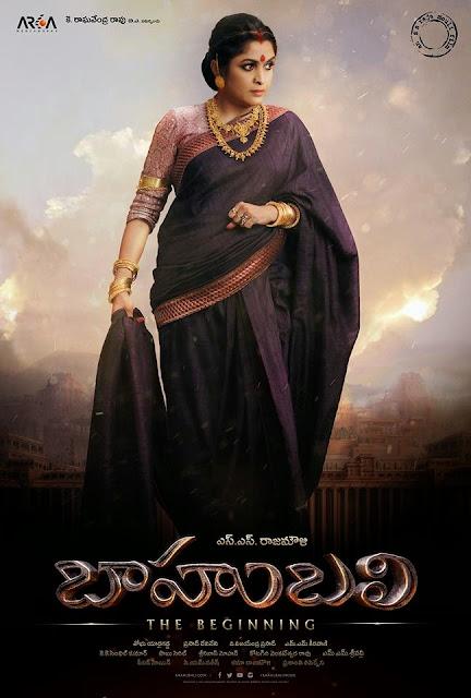 Ramya Krishna as SIVAGAMI in Baahubali HD Poster