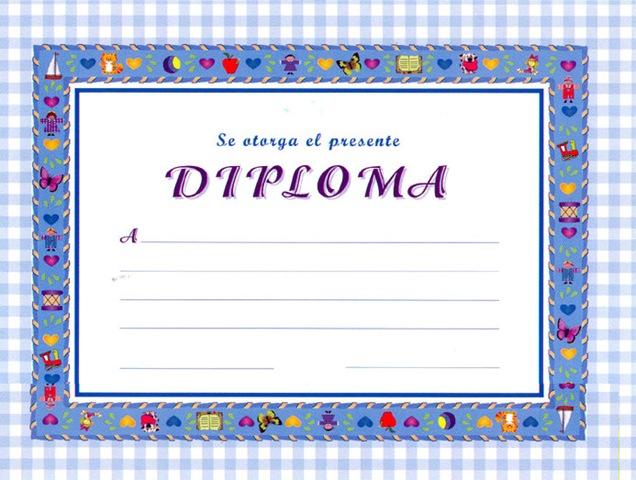 Plantillas de Diplomas y Graduaciòn para Imprimir | El Rincón de ...