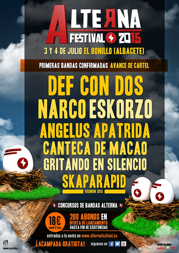 ALTERNA 3 Y 4 DE JULIO FESTIVAL 2015 los primeros confirmados en esta nueva edición