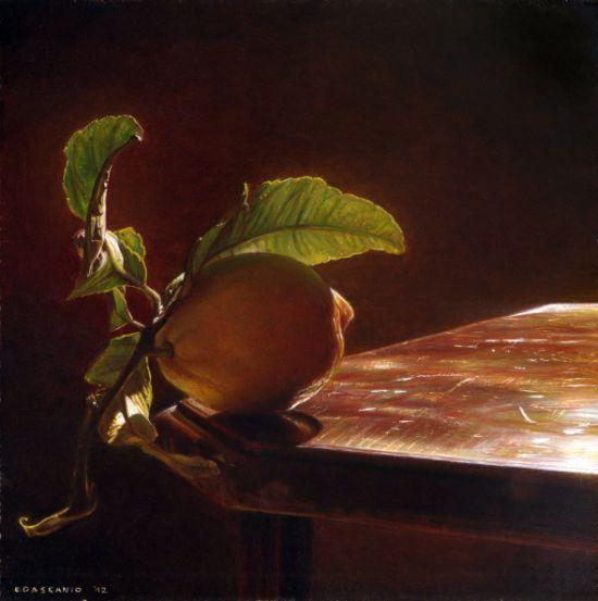 Emanuele Dascanio pinturas retratos e natureza morta hiper-realistas Fruta