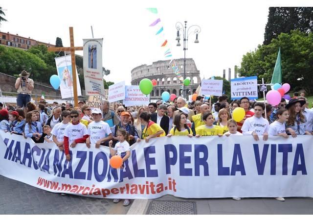 Marcha pela Vida na Itália 20 maio 2017
