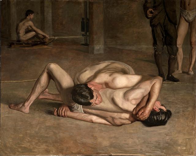 Eakins,_Thomas_-_Wrestlers_1899.jpg