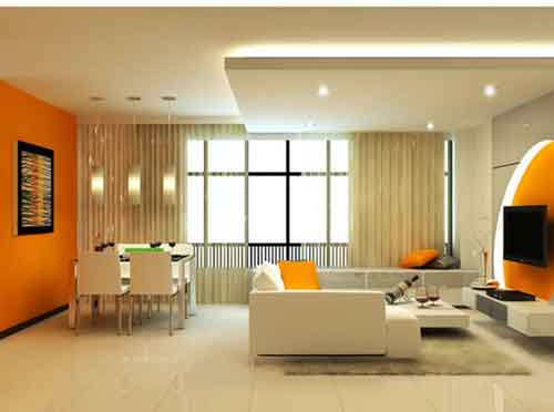 Living room paint ideas interior home design for Painting wall designs for living room