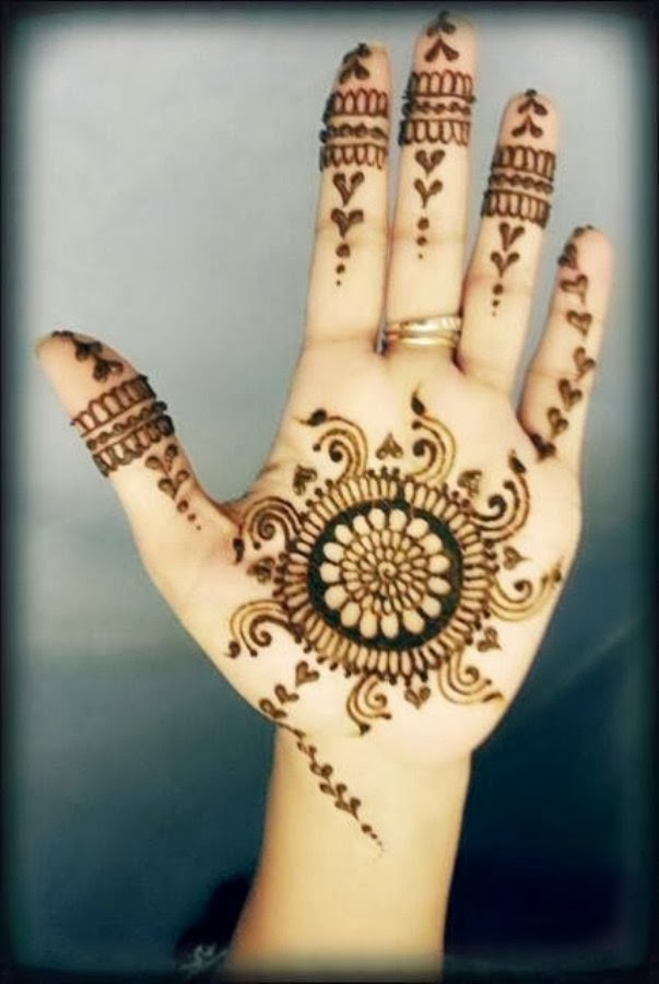 Beautiful But Simple Mehndi Design 2014 For Girls All