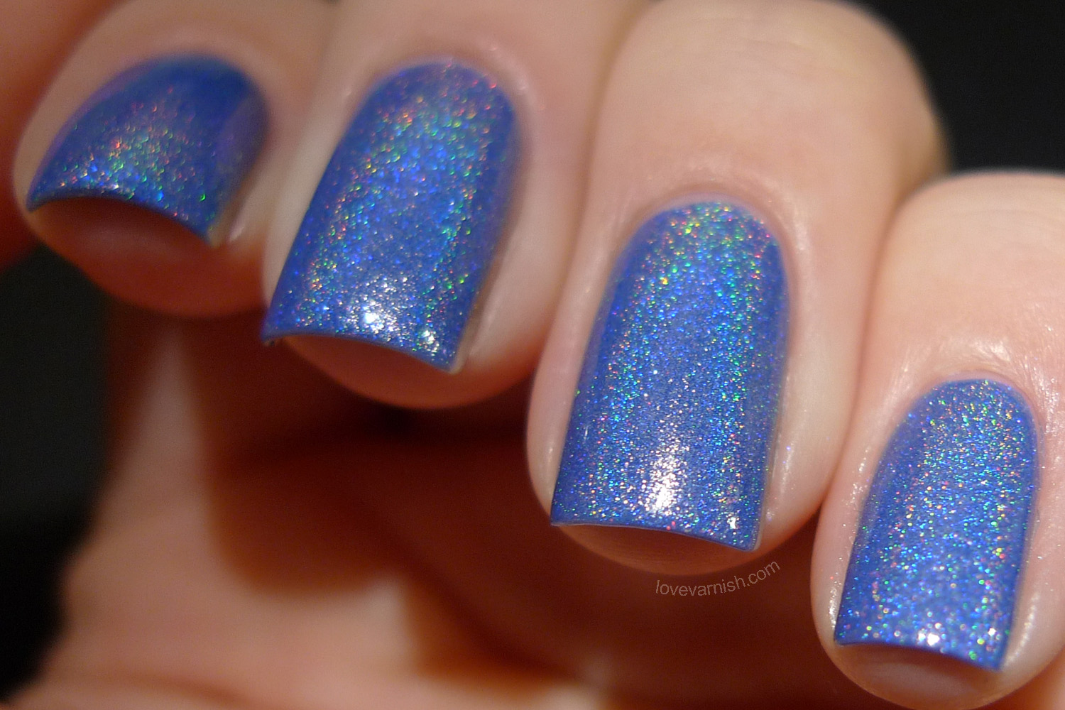 Cirque Heritage Sky Woman periwinkle blue holographic polish