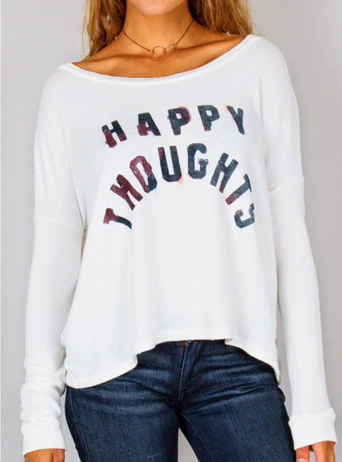 Happy Thoughts Fleece