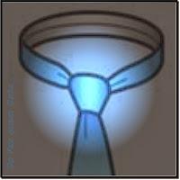 Nó de gravata Quatro na mão (Four in hand knot) o nó simples e básico.