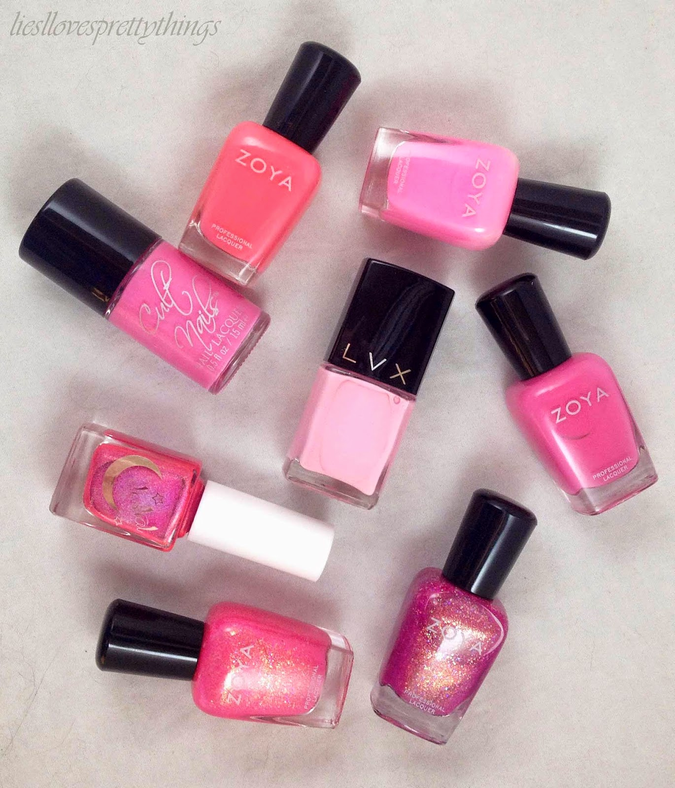 June 2014 favorites pink nail polish