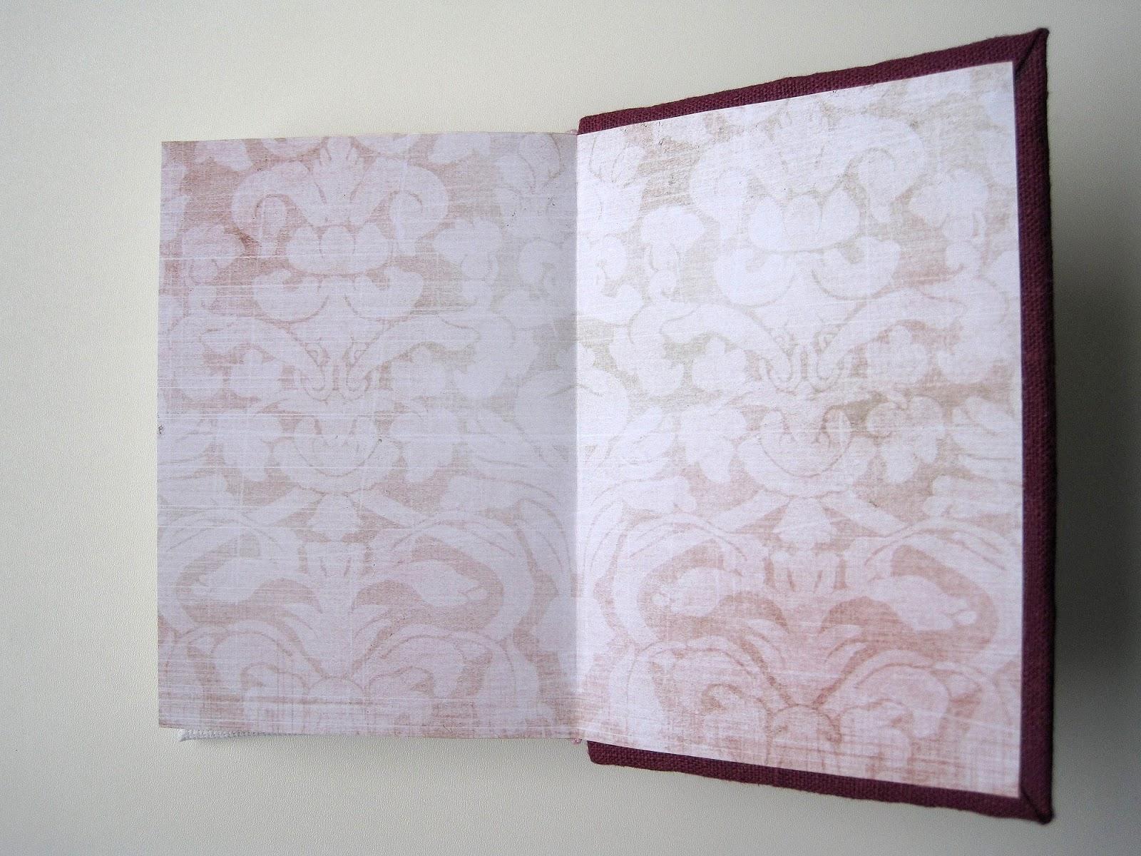 блокнот ручной работы с нуля hand made notebook форзац