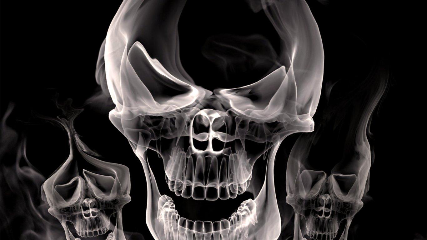 free download 3d skull wallpaper