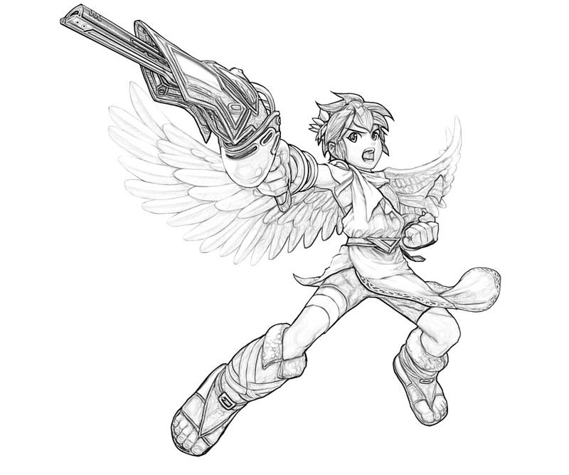 Printable Kid Icarus Pit Uprising Coloring Pages