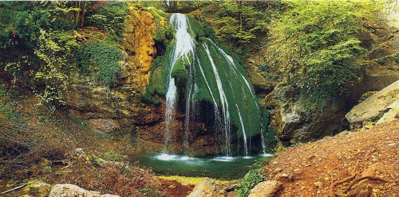 Jur-Jur Falls or Dzhur-Dzhur Falls - The full-flowing waterfall of Crimea, located on the territory of Alushta region in the vicinity of the village Generalskoe in the gorge Haphal.