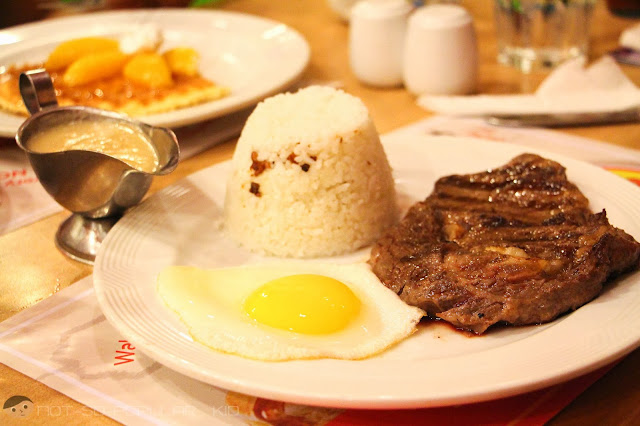 Satisfactory delight in the Sunrice Steak of Pancake House!
