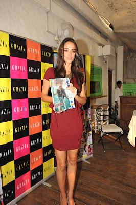 Angela Johnsson Launches the Grazia Magazine March 2013 Cover.