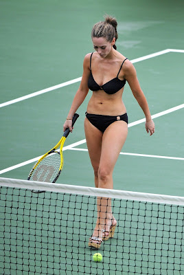 Jennifer Love Hewitt Black Bikini Tennis Match