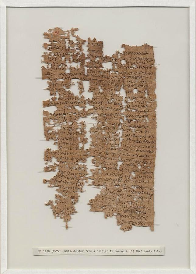 El papiro con la emocionante carta, hallado en el siglo XIX y recién descifrado y publicado