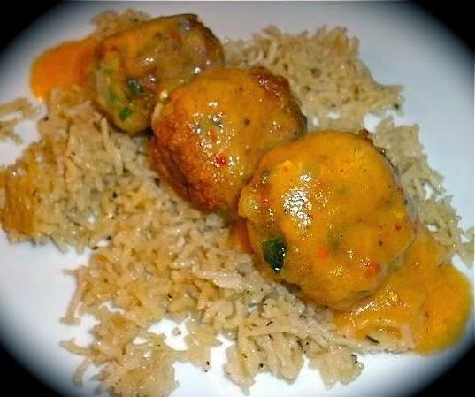 The Briny Lemon: Caribbean Shrimp Balls with Papaya-Coconut Sauce