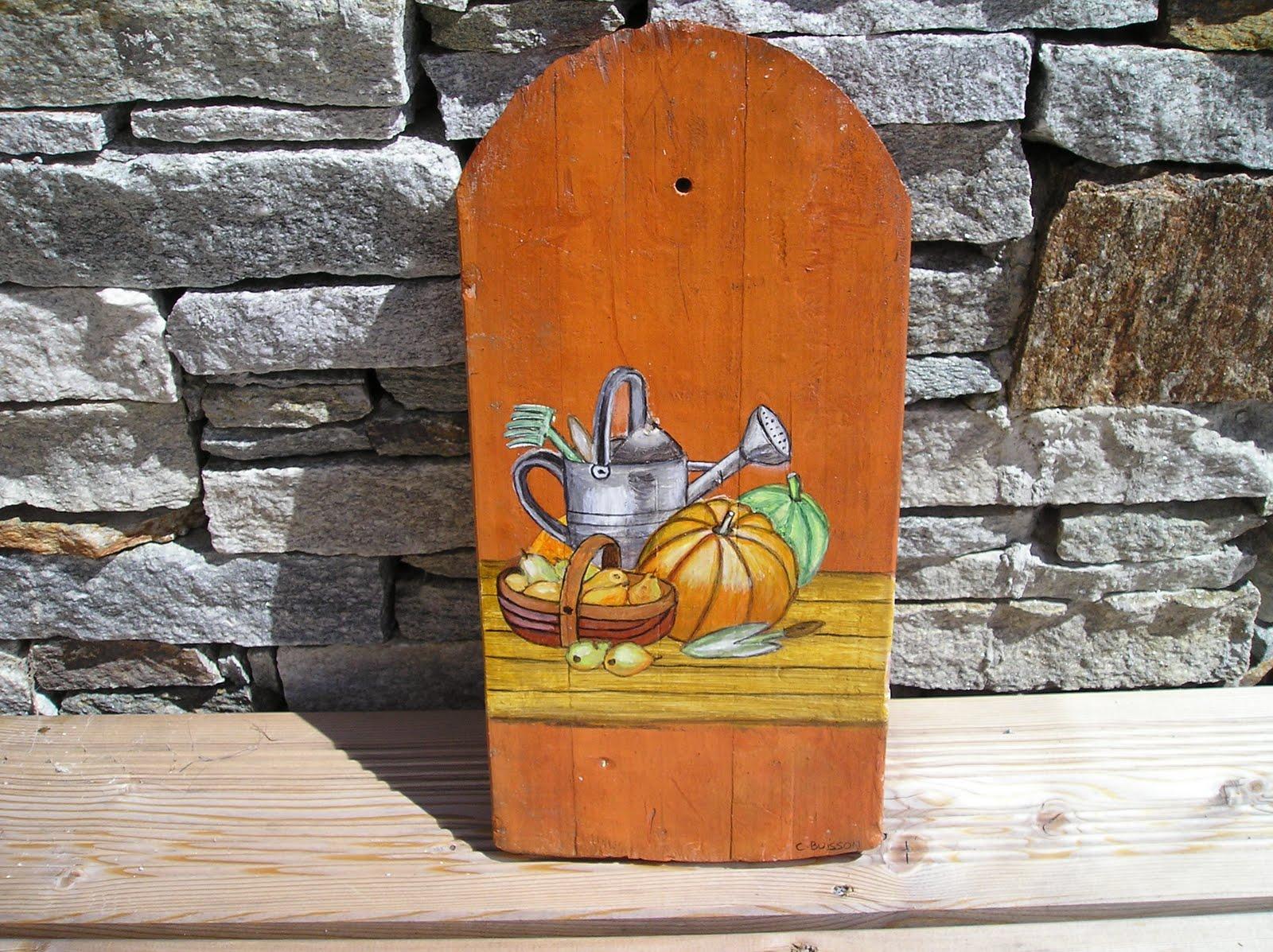 Art d co bois flott peinture d corative objets divers for Peinture sur bois flotte