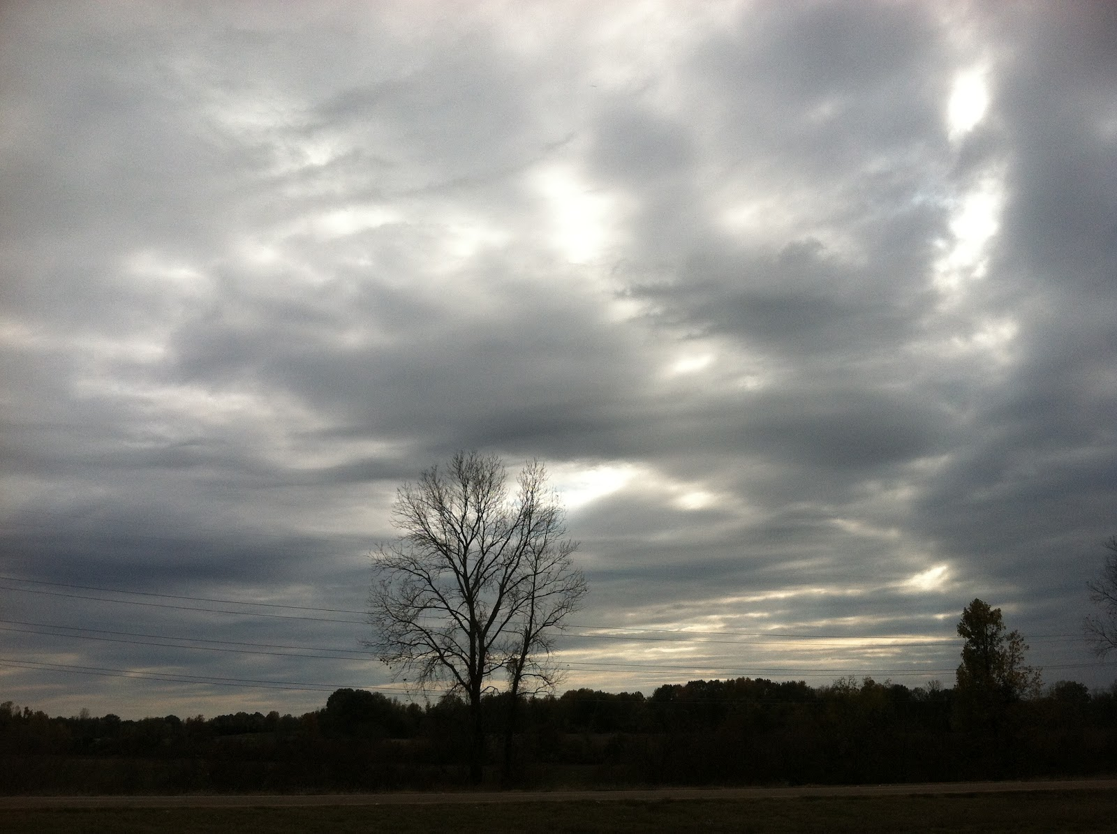 Cloudy Morning Skies Memphis Tennessee 901
