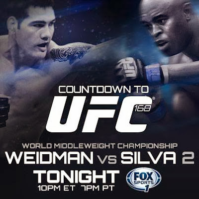 UFC 168 live stream Chris Weidman vs Anderson Silva