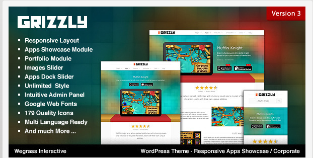 download free grizzly wordpress template