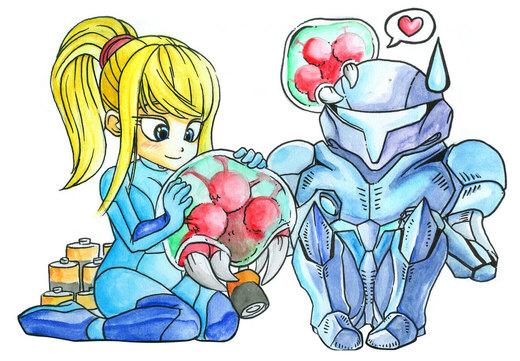 Chibi Metroid por ShinMitsuomi