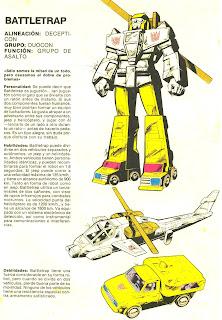 Battletrap (ficha transformers)