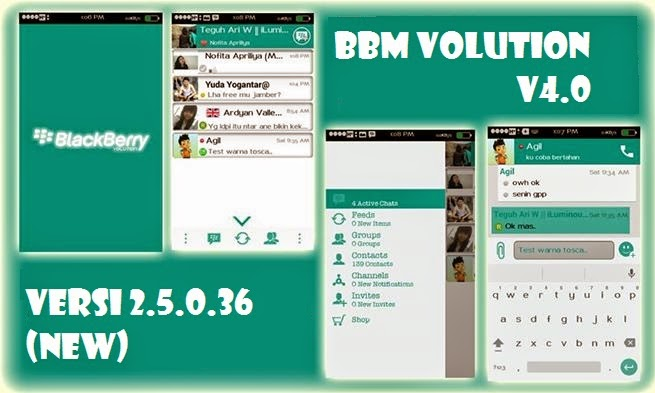 download BBM mod Volution Apk tema ui versi 2.5.0.36