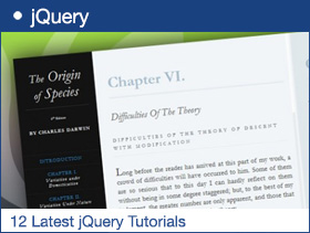 12 Latest jQuery Tutorials