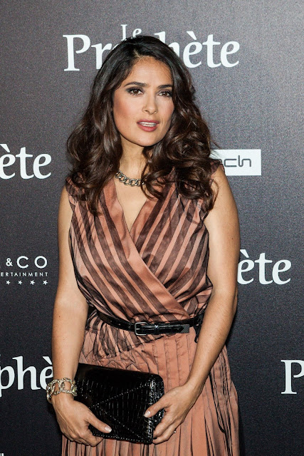 Actress, @ Salma Hayek - 'Le Prophete' premiere in Paris