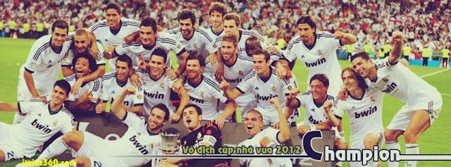 Ảnh bìa Facebook bóng đá - Cover FB Football timeline, real madrid vô địch cúp nhà vua