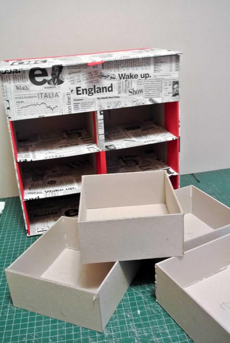 Organizador de escritorio reciclaje de carton - Organizador escritorio ...